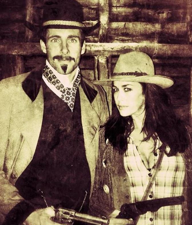 Megan and Shaun were looking straight out of the vintage wild west!