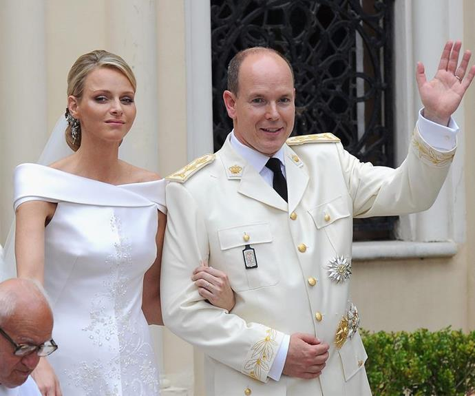Princess Charlene and Prince Albert on Monaco pictured on their wedding day in 2011.