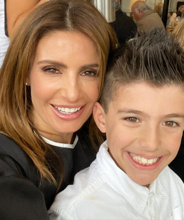 """**Ada Nicodemou**  <br><br> After a year of trying to conceive, Ada turned to IVF and fell pregnant with her adorable son Johnas. <br><br> During the later months of her pregnancy, she told *New Idea* how happy she was that the IVF worked so quickly after trying for so long.  <br><br> """"For it to happen so quickly after we struggled for so long is a really nice surprise and we feel really, really lucky."""""""