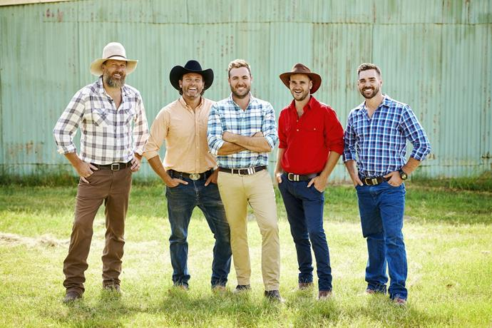 The farmers are dressed for the part.