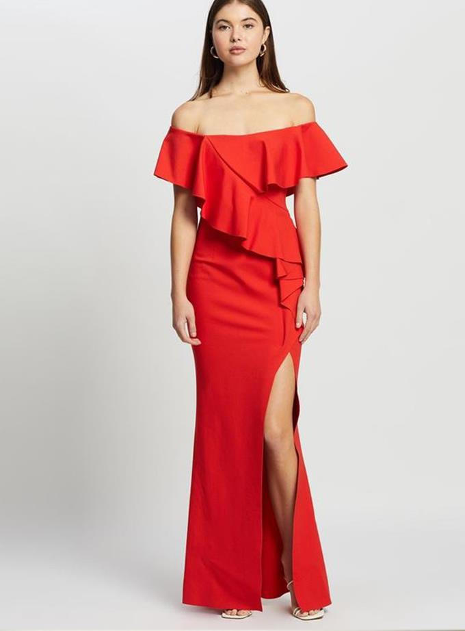 """The Iconic, Elliat Rossi Dress, $299.95 and you can [find it here.](https://www.theiconic.com.au/rossi-dress-1248672.html