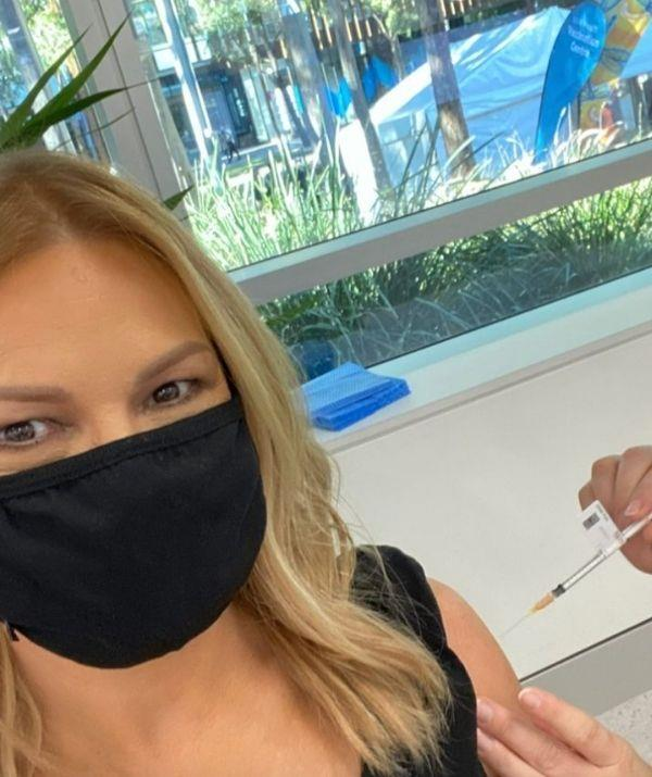 **Sonia Kruger**  <br><br> As Sydney settled into lockdown, Sonia went to Olympic Park's NSW Health Vaccination Centre to get her vaccination.