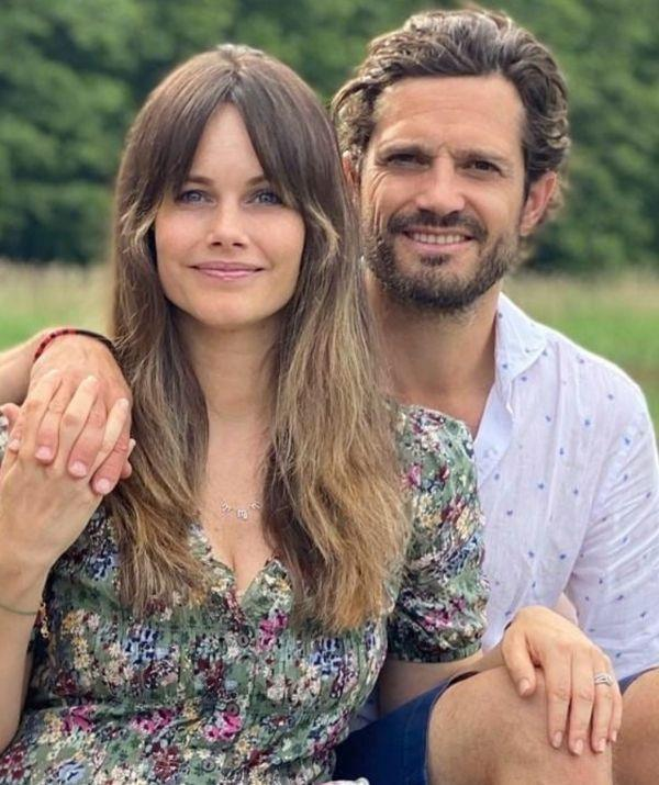 **Princess Sofia of Sweden** <br><br> Sofia's 70s inspired curtain bangs are very much on trend after the hairstyle went viral on TikTok in 2021.