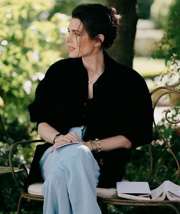 **Charlotte Casiraghi Rassam** <br><br> Ah! It's a classic French woman move of Charlotte to style her hair casually, and it looks perfectly accidental. Charlotte's messy bun is devastatingly elegant and unbothered. It calls to the 2021 trend that embraces a more natural look after a very stylised 2010s.