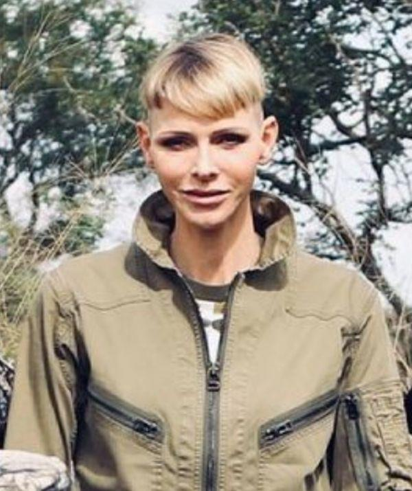**Princess Charlene of Monaco**  <br><br> This is by far one of the edgiest and gender-fluid haircut to be donned by a royal. This crew cut is for those who are brave enough to experiment with such a strong look. The hairstyle fits perfectly within the emergence of more gender-fluid styling that breaks away from traditional restrictions.