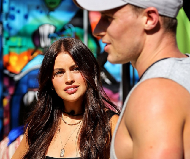Christina also struck up a romance with housemate, Brenton.