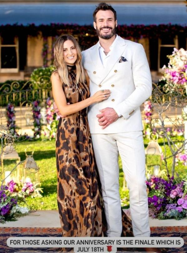 The couple celebrate their anniversary in July, when they filmed the Bachelor finale.
