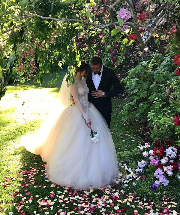 """Buddy and Jesinta kept details of their wedding under wraps in the lead up to their [intimate ceremony in November 2016](https://www.nowtolove.com.au/celebrity/celeb-news/how-jesinta-and-buddy-franklin-kept-wedding-under-wraps-24378