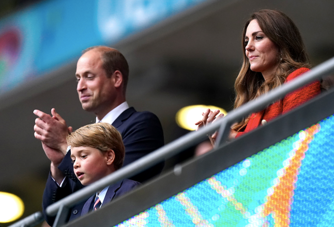 The young Prince was slightly more composed than last time - though he was still seen enthusiastically cheering his team along.