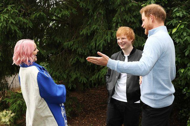 Prince Harry joined Ed Sheeran for the special event which celebrated the bravery and remarkableness of young children who are battling illnesses.