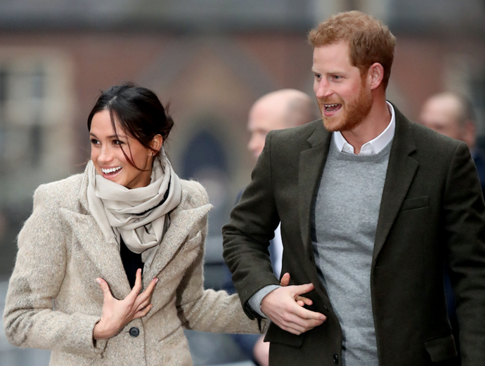 Harry left his wife and two kids back in the US as Meghan nests on maternity leave with her newborn.