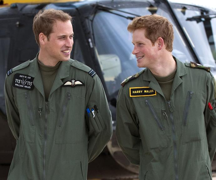 """The royal duo shared many passions, including their dedication to their roles in the British Armed Forces. William's military career began in 2006 and went on to train in the Royal Navy and Royal Air Force, eventually becoming an air ambulance pilot in 2014.  <br><br> Harry actually kicked off his military career a year before his elder brother, joining the armed forces in 2005 and forging an impressive career in the British Army. They even lived together during their training, but Harry joked: """"First and last time we'll be living together, I assure you of that."""""""