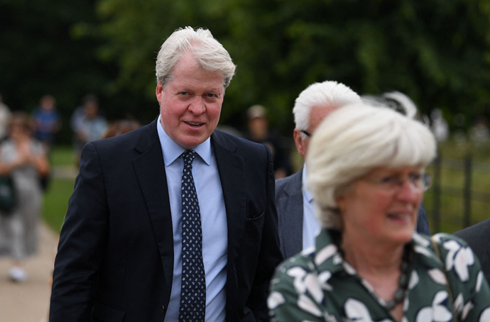 Diana's brother Earl Charles Spencer accompanied his two sisters to the statue unveiling.