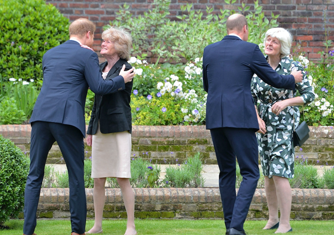 The two sisters have always remained close to Diana's sons.
