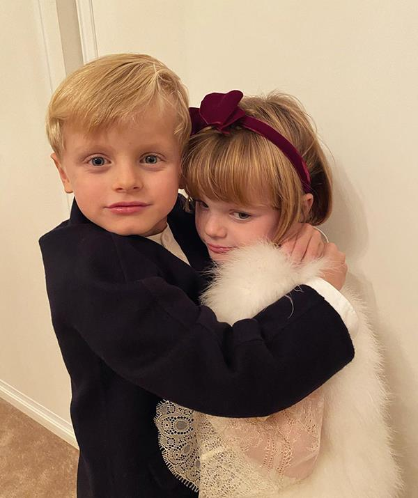 Little Jacques and Gabriella are now six years old and make regular appearances on their mother's Instagram account. Cute snaps like these dot her profile, showing the close bond between the twins. Charlene shared this image with a single heart emoji as the caption.