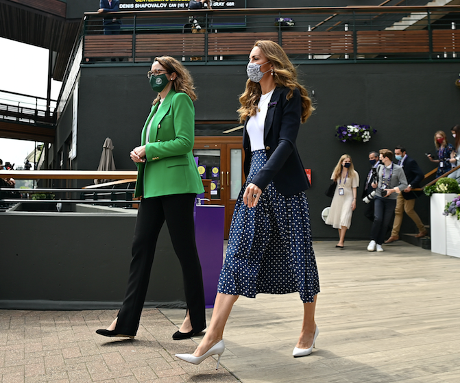 Kate looked glorious as she stepped into day five of the Wimbledon Championships.
