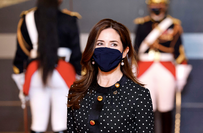 Crown Princess Mary also knows her way around the humble polka dot trend.