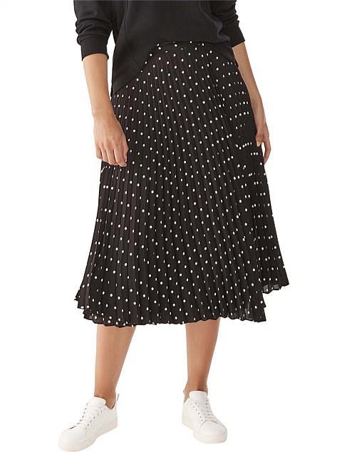 "Commonry Spotted Pleated Midi Skirt, $99.95 (on sale). **[Buy it online via David Jones here](https://www.davidjones.com/Product/24097817 target=""_blank"" rel=""nofollow"")**"