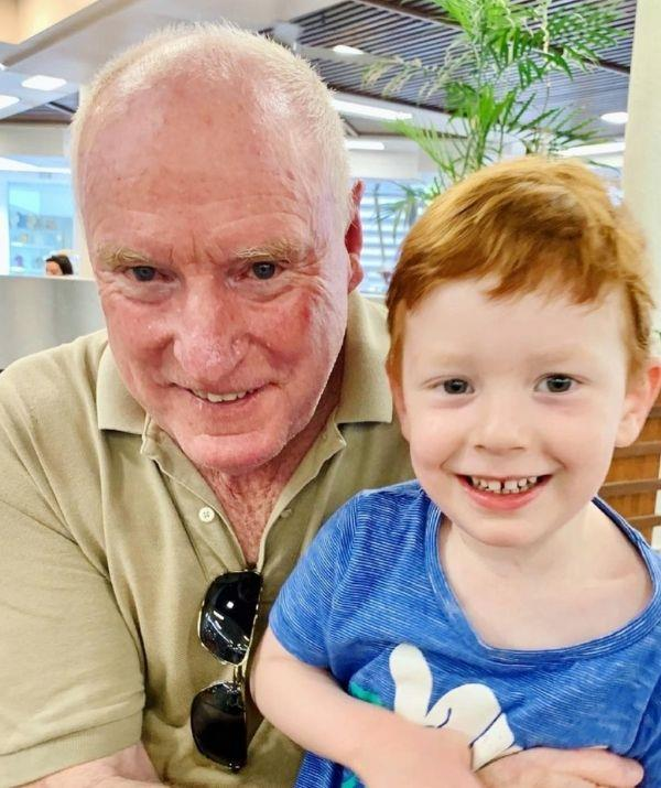 Ray with Emily Symon's son Henry.