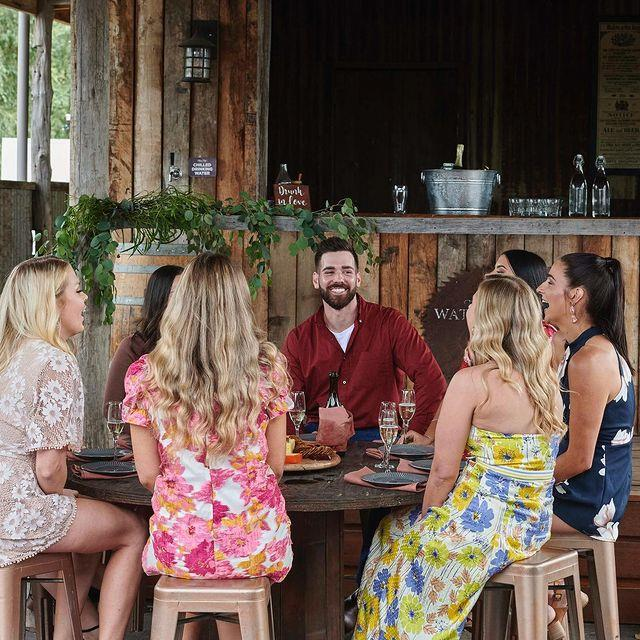 Farmer Sam has a group of stunning women after his heart.