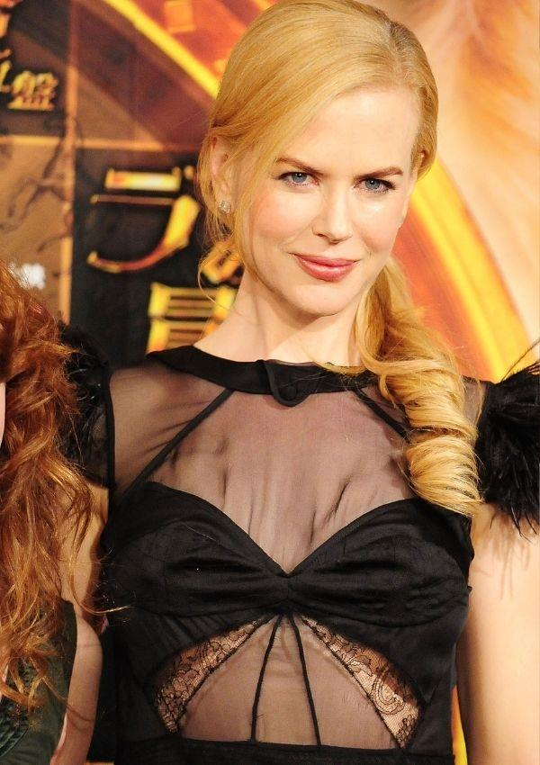 **Nicole Kidman, 2008** <br><br> Nicole wore this sheer panel and layered lace dress to a movie premiere in 2008, and this beautiful design is still a prominent feature on red carpets.