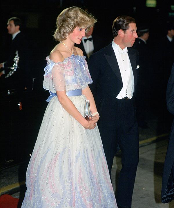 Princess Diana and Prince Charles attend a Royal Variety Performance in 1984.