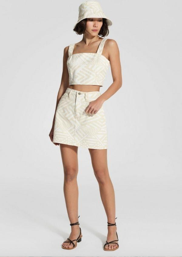 "Nobody Denim x Bima Wear Skirt, $189 by Bima can be [found here.](https://bimawear.com/nobody-denim-x-bima-wear/nobody-denim-x-bima-wear-skirt/|target=""_blank"")"