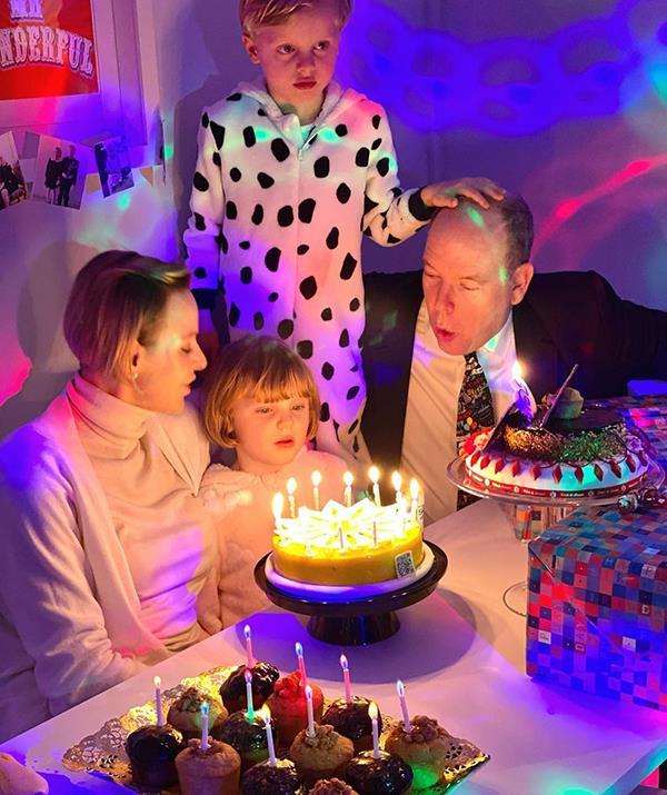 Charlene and Albert celebrate their twins' sixth birthday.