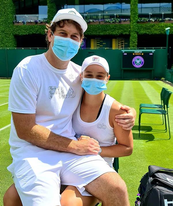 Ash Barty and Garry Kissick posed together before the Wimbledon tournament kicked off.