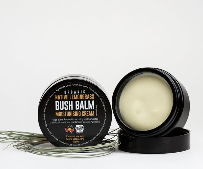 "Organic Native Lemongrass Cream, $55 by Bush Balm can be [found here.](https://www.bushbalm.com.au/product/organic-lemongrass-cream/ target=""_blank"")"
