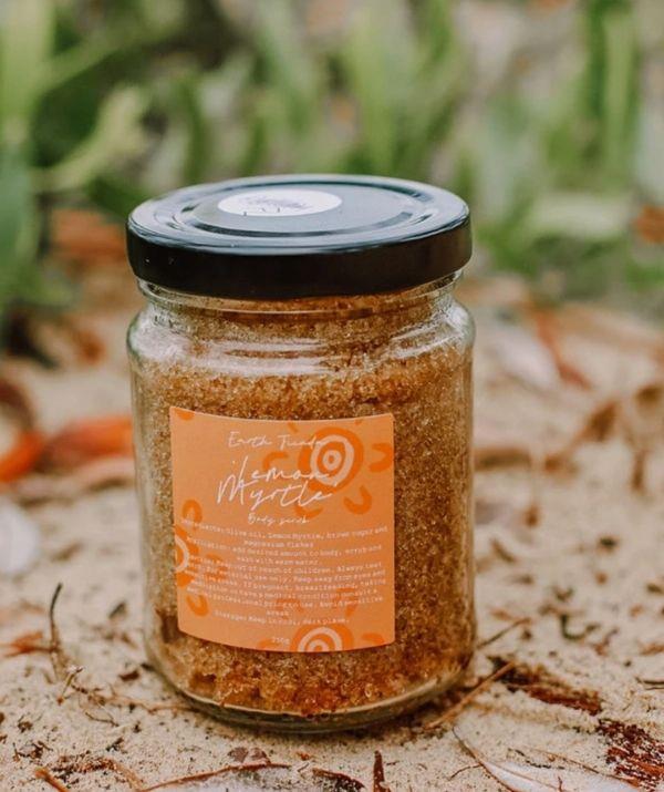 "Lemon Myrtle Scrub, $29 by Earth Jiinda can be [found here.](https://www.earthjiinda.com/collections/scrubs-soaks/products/lemon-myrtle-scrub target=""_blank"")"