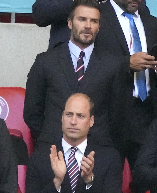 Instead of Kate, William had David Beckham for a plus-one.