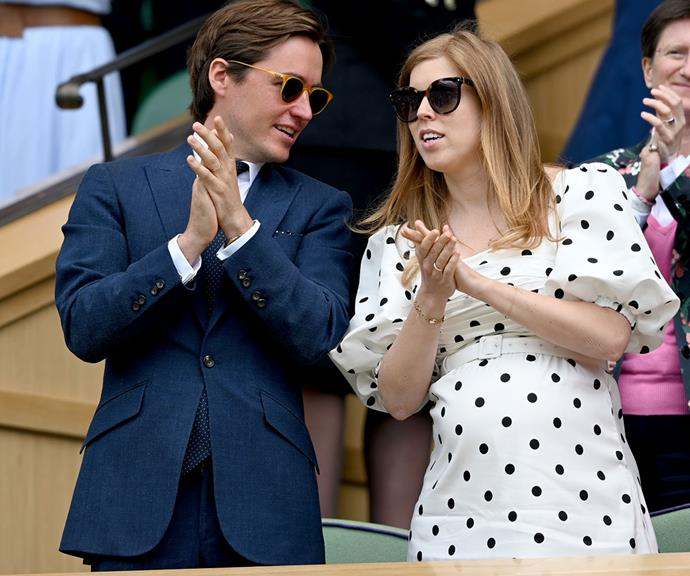 And pop! Princess Beatrice, who is expecting her first child, debuted her baby bump at Wimbledon this week.