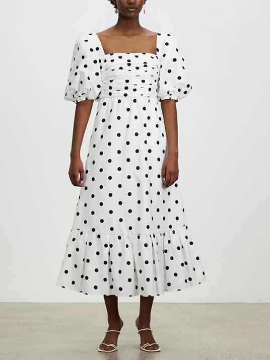 "[Polka Dot Midi Dress, Self Portrait, $670.00, The Iconic.](https://www.theiconic.com.au/polka-dot-midi-dress-1241670.html|target=""_blank""|rel=""nofollow"")"