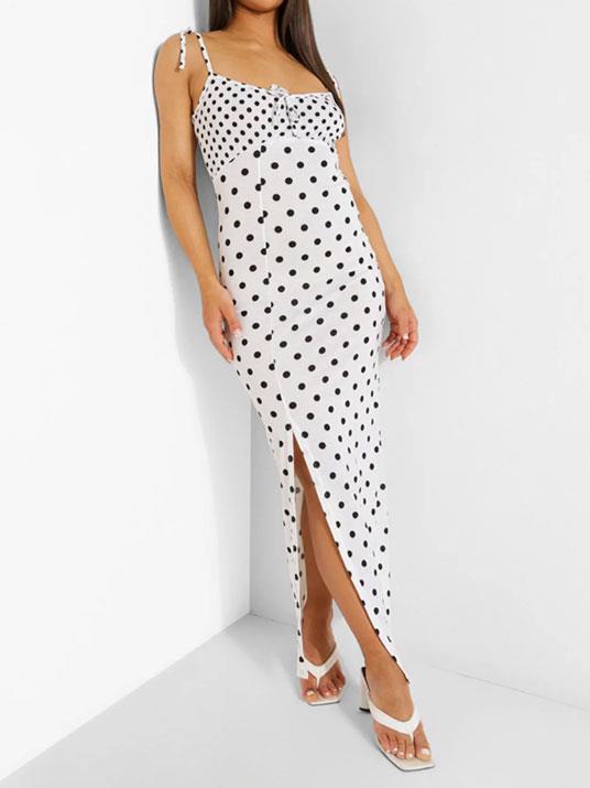 "[Polka Dot Tie Strap Maxi Dress, $25, Boo Hoo.](https://au.boohoo.com/polka-dot-tie-strap-maxi-dress/FZZ18933.html?color=173|target=""_blank""|rel=""nofollow"")"
