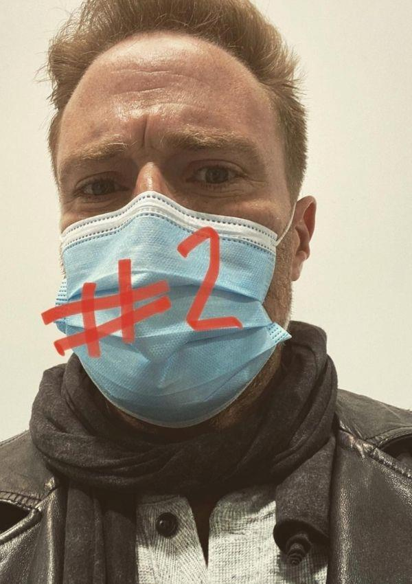 """**Ditch Davey**  <br><br> The *Home and Away* actor is fully vaccinated, and he commemorated the moment with some on-theme hashtags, """"#jabdone 💉#f--kcovid #lockdownsare👎."""" <br><br> Ditch's co-star Georgie Parker commented her support in the comments section, """"You champion, good on you mate."""""""