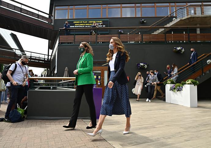 Kate also rocked polka dots at Wimbledon last week.