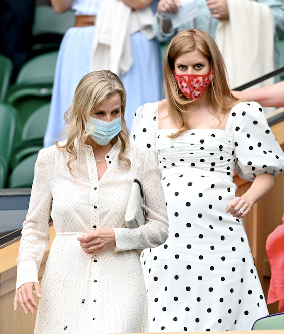 Sophie joined pregnant Princess Beatrice for the day's events.