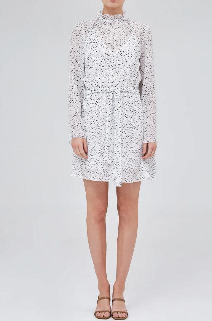 "The Fifth Camila Long Sleeve Dress Ivory Spot, $139.95. **[Buy it online via Fashion Bunker here](https://fashionbunker.com/camila-long-sleeve-dress-ivory-spot target=""_blank"" rel=""nofollow"")**"