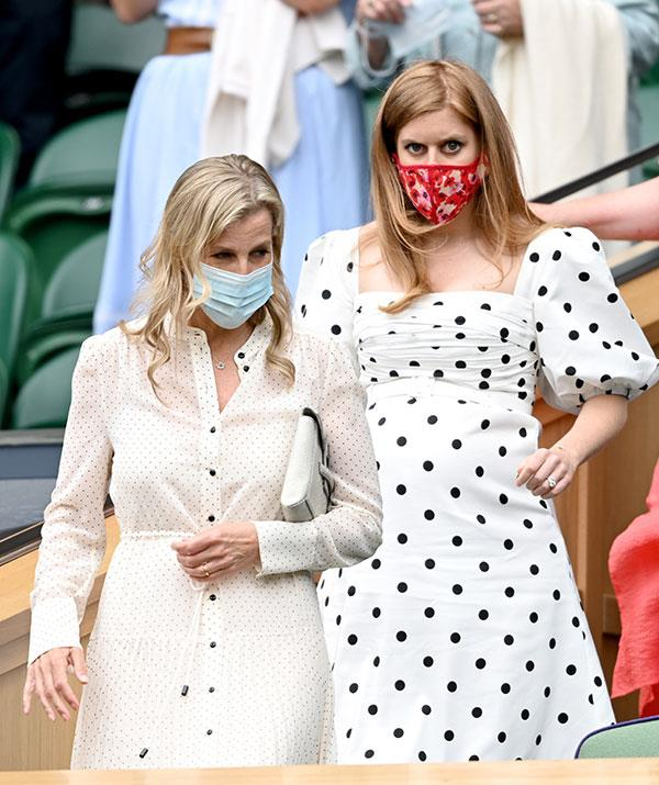 """Girls' day out! Princess Beatrice was joined by her aunt Sophie of Wessex on [day 10 of Wimbledon this week.](https://www.nowtolove.com.au/royals/british-royal-family/sophie-of-wessex-wimbledon-68319