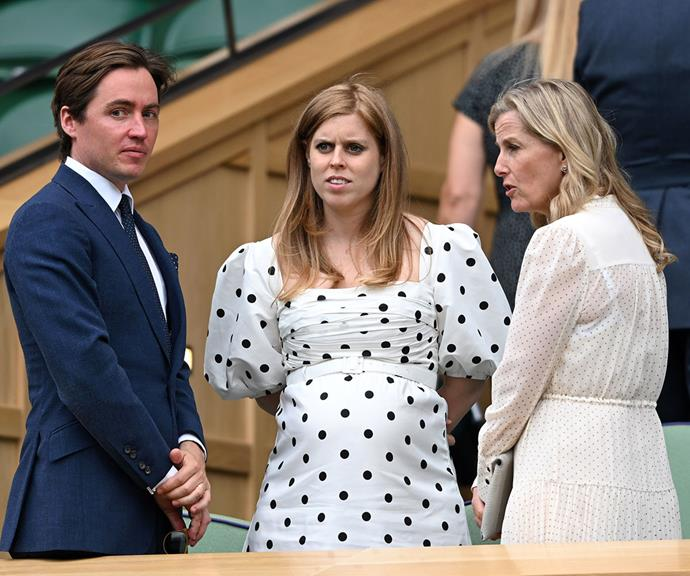 Bea and Sophie, pictured with Beatrice's husband Edoardo Mapelli Mozzi, enjoyed a friendly chat in the Queen's VIP Royal box.