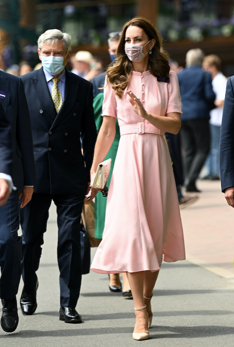 Kate was seen at Wimbledon just hours earlier with her dad, Michael Middleton.