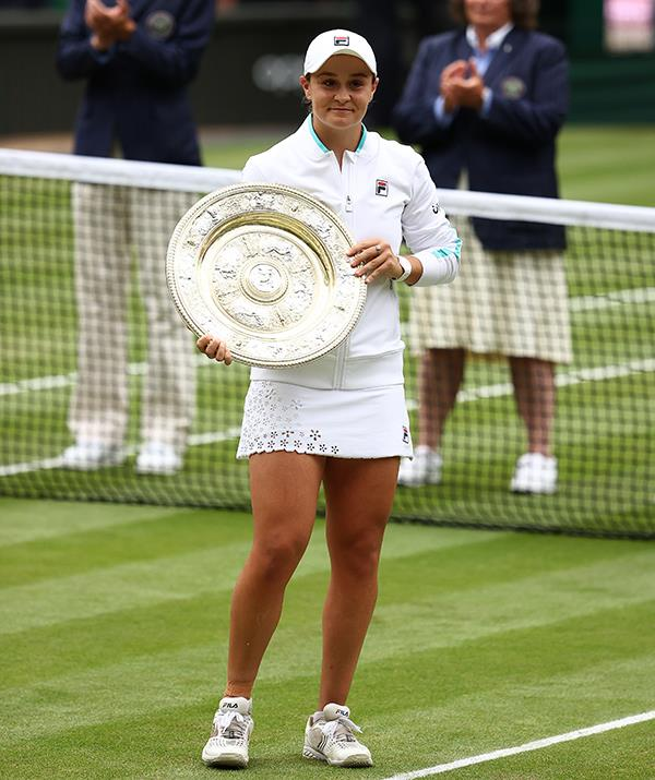 Ash Barty took home a historic Wimbledon single's title in a very touching outfit.