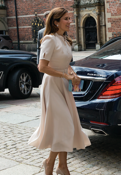 Crown Princess Mary wore the exact same dress as Kate just over a year ago.