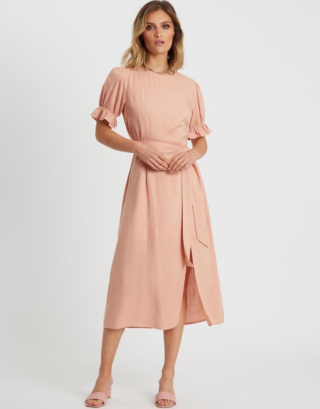 "CALLI Georgie Dress, $64.98. **[Buy it online here](https://outlet.theiconic.com.au/georgie-dress-1182362.html|target=""_blank""|rel=""nofollow"")**"