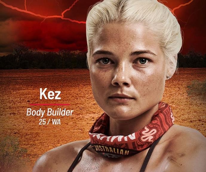 **Kez** <br><br> Body builder and personal trainer Kez is also joining the Brawn tribe in 2021, and there's no doubt about her credentials. Don't let her sweet face fool you either - this woman will do what it takes to survive.