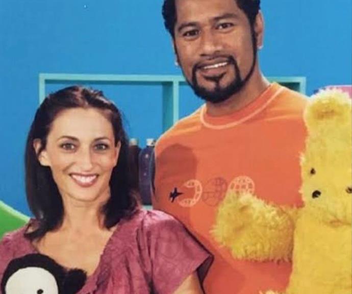 Georgie with her co-star Jay Laga'aia.