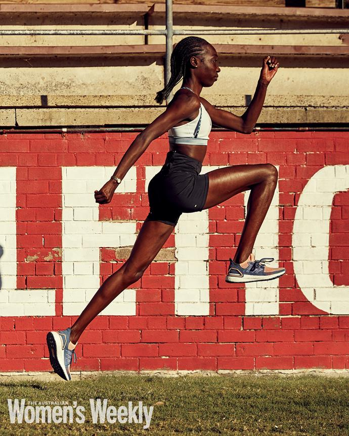 """**BENDERE OBOYA** <br><br> *A star in the making.*  <br><br> As the youngest of six children, Bendere Oboya was always sprinting to keep up with her older siblings, never realising that one day she would parlay this into a word class athletics career. <br><br> """"We used to run everywhere,"""" the Ethiopian-born athlete recalls. """"My brothers would just run off ahead so I was always racing to catch up."""" <br><br> Still, the young Bendere never gave much hint of the talent that has since seen her compared to 400-metre legends Cathy Freeman and Jana Pittman. """"Running wasn't something I was particularly good at,"""" she says. """"I used to lose at school. I didn't make my first state championships for so long!"""" <br><br> So why did she persist? """"I just loved it,"""" she explains. """"I was never a great student and I was very shy. With athletics, I could close off and be myself. My confidence started to come out and I just knew that if I trained well, I would get there one day. I knew there was so much more in me."""" <br><br> Bendere, who moved to Australia as a three-year-old, also made a critical observation in her teenage years: all of the winners at the Little Athletics meets had coaches. She duly found herself one, and her times dropped so dramatically that she seemed to burst onto the national athletics scene out of nowhere.  <br><br> In just over a year, Bendere had sliced more than 22 seconds from her 400m personal best (PB) to become the 2017 Commonwealth Youth champion. <br><br> Since then, she has gone from strength to strength. In April, on her 21st birthday, she won the national title with a time of 52.20 seconds to secure her spot in Tokyo.  <br><br> Two years earlier, at the World Championships in Doha, she'd posted a Tokyo qualifying time and current PB of 51.2 - just outside Cathy Freeman's under-20 PB of 51.14.  <br><br> """"I look back at that race and know I had so much more,"""" Bendere says. """"I just never realised I was that close to her."""" <br><br> While the comparisons to t"""