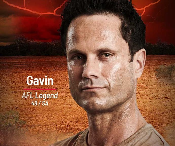 """**Gavin** <br><br> Is that AFL legend Gavin Wanganeen staring back at us? The sporting icon will be joining the Brawn Tribe, and we're sure he'll make a big impression. <br><br> He wants to become the first Indigenous person to win *Australian Survivor,* representing his community on national TV. And while he may be on the Brawn tribe, he thinks the other contestants will underestimate his brainy side. <br><br> """"I think people will definitely underestimate me because they'll think, 'He's a dumb ex footballer',"""" the former Port Adelaide player said in the trailer. """"I'm ready to play. The beast comes out, so don't mess with me."""""""