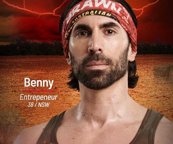 """**Benny** <br><br> """"I've got no emotion, I'm willing to throw people under the bus,"""" entrepreneur Benny said in an intro clip. """"I will win the game."""" <br><br> Benny will join the Brawn tribe and looks like a serious contender."""